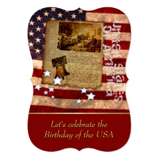 Birthday of the USA Party Invitation