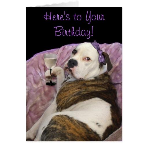 Birthday Olde English Bulldogge Greeting Card