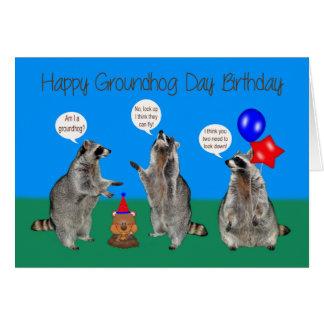 Birthday On Groundhog Day Greeting Cards