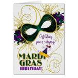 Birthday on Mardi Gras Greeting Card