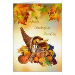 Birthday on Thanksgiving Day Card. Cornucopia