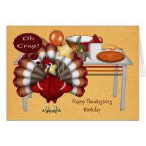 Birthday On Thanksgiving Greeting Cards