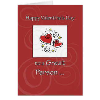 Birthday on Valentine's Day Red Heart Card
