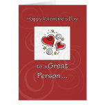 Birthday on Valentine's Day Red Heart Greeting Card