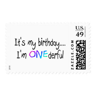 Birthday (ONEderful) Postage Stamp