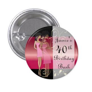 Birthday or Bachelorette Diva Girl Fun Pinback Button
