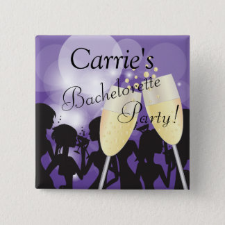 Birthday or Bachelorette Diva Girls Night Out Pinback Button