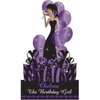 Birthday or Bachelorette Diva Princess | Purple Standing Photo Sculpture