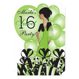 Birthday or Bachelorette Girl in Green Card