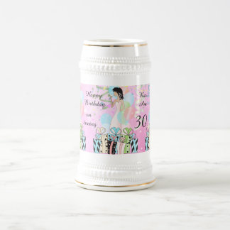 Birthday or Bachelorette Party Diva Princess Girl Beer Stein