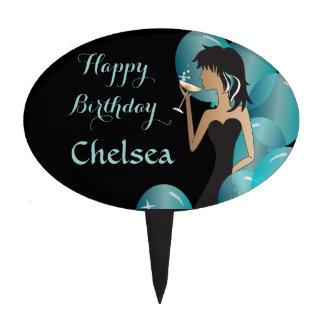 Birthday or Bachelorette Party Diva Princess Girl Cake Topper