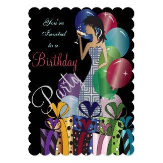 Birthday or Bachelorette Party Diva Princess Girl Card