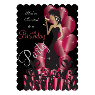 Birthday or Bachelorette Party Diva Princess Girl Card