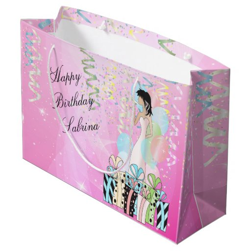 Birthday or Bachelorette Party Diva Princess Girl Large Gift Bag