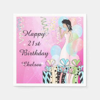 Birthday or Bachelorette Party Diva Princess Girl Napkin