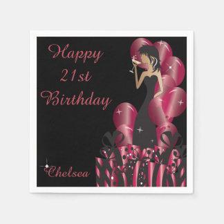 Birthday or Bachelorette Party Diva Princess Girl Paper Napkin