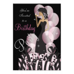 Birthday or Bachelorette Pink Party Girl Card
