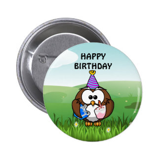 Birthday Owl Pins