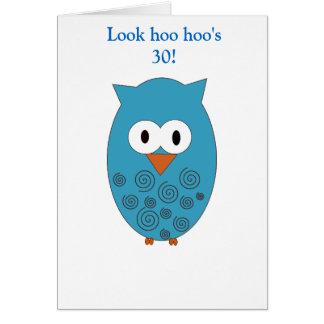 Birthday Owl (Male) Card