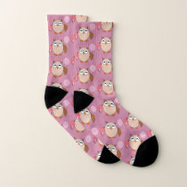 Birthday Owl Patterned Socks