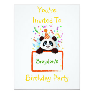 Birthday Panda Card