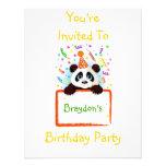 Birthday Panda Personalized Invite