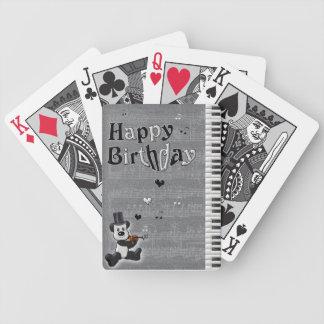 Birthday Panda Playing Cards