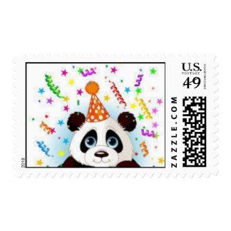 Birthday Panda Stamp