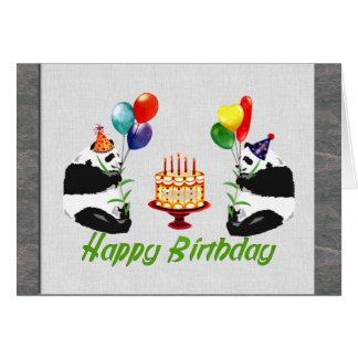 Birthday Pandas Card