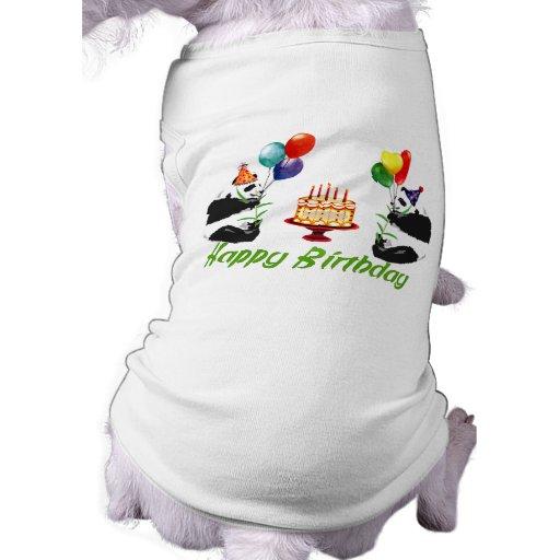 Birthday Pandas Dog Tee