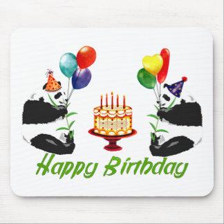 Birthday Pandas Mouse Pad