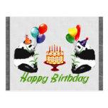 Birthday Pandas Post Cards