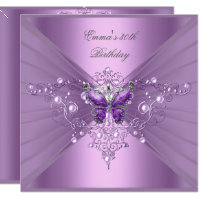 Birthday Party 30th Lilac Pearl Purple Butterfly