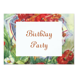 birthday+party 4.5x6.25 paper invitation card