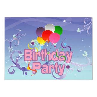 Birthday Party 5x7 Paper Invitation Card
