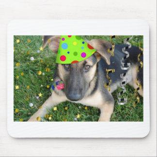 Birthday Party Animal German Shepherd Mouse Pad