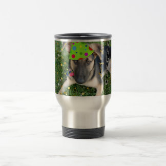 Birthday Party Animal German Shepherd Travel Mug