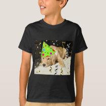 Birthday Party Animal Golden Retriever T-Shirt