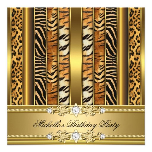 birthday party animal print gold mixed 525x525 square