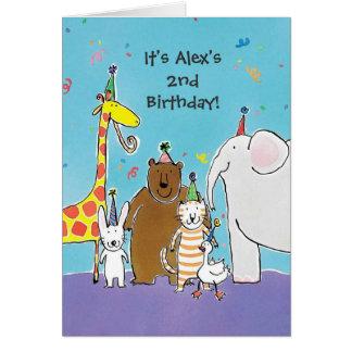 Birthday party animals customizable invitations