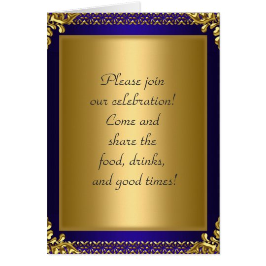 Birthday Party Announcement Royal Blue