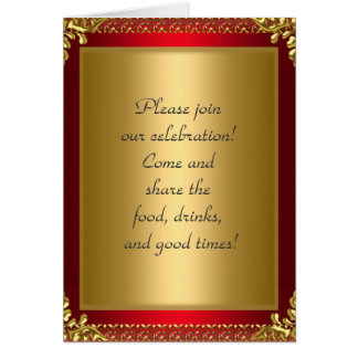 Birthday Party Announcement Royal Red Cards