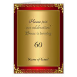 Birthday Party Announcement Royal Red Greeting Card