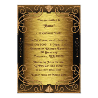 Birthday Party Any age,Gatsby style,Art-Deco, gold Card