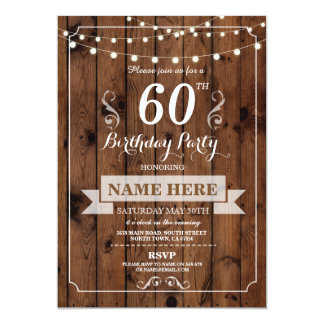 Birthday Party Any Age Rustic Wood Surprise Invite