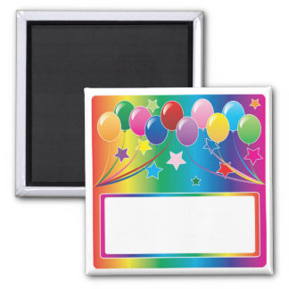 Birthday Party Balloons Magnet
