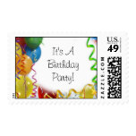 Birthday Party Balloon's Postage Stamps