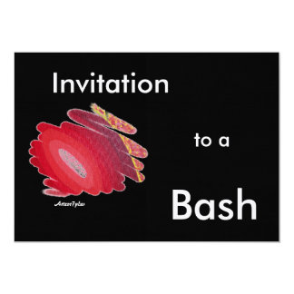 Birthday Party Bash Red Passion Chakra Invitation