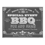 Birthday Party | BBQ | Vintage Chalkboard Postcard