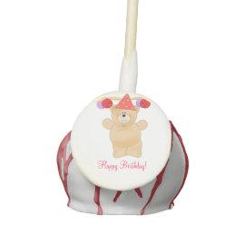 Birthday Party Bear Cake Pops